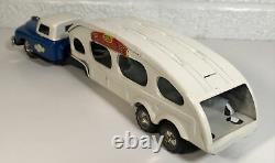 Vintage Linemar Tin Friction Car Auto Carrier Transporter Hauler Truck Marx