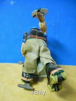 Vintage Linemar/marx Mechanical Roller Skater Popeye Tin Wind-up Toy-works Great