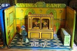 Vintage Louis Marx 1920's Home Litho Tin Set 8 Total Buildings See details