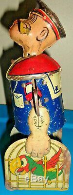 Vintage Louis Marx POPEYE Tin Windup 1930s Complete WORKS L@@K