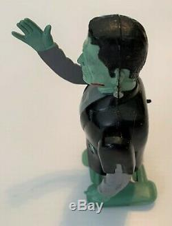 Vintage MARX FRANKENSTEIN Windup Wind Up Tin Plastic Monster Toy MUST See Video