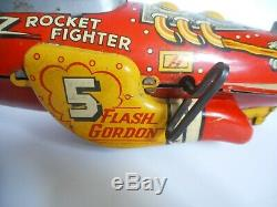 Vintage MARX Flash Gordon Rocket Fighter Wind-Up Tin Toy Space Ship