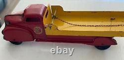Vintage MARX Lumar Pressed Steel Contractors Flat Bed 1930's