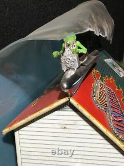 Vintage MARX Tin Litho Metal Dollhouse House Toy Surf Club House Customized
