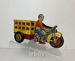 Vintage MARX Toys Tin Litho SPEED BOY DELIVERY MOTORCYCLE