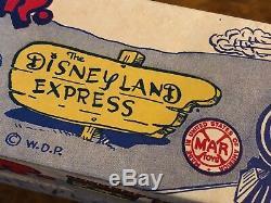 Vintage MIB Louis Marx & Co. NY The 1st Disney Land Express Tin Toy