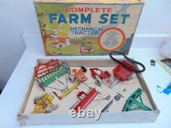 Vintage Marx 1939 Farm Set Missing Tractor, with extras Tin, Die Cast Metal-Nice