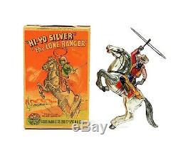 Vintage Marx 1939 Hi-Yo Silver The Lone Ranger Chrome Version with Original Box