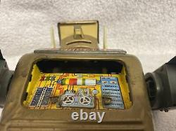 Vintage Marx 1960s Gold Mr. Mercury Battery Operated Tin Robot Toy