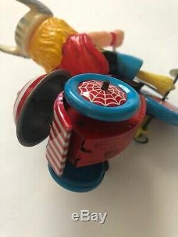 Vintage Marx 1968 Thor Tricycle Marvel Comics Tin Woking Wind-up Marvel mania