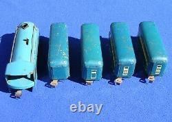 Vintage Marx 635 Blue Mercury 3-Car Passenger Set VG 1940s
