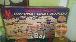Vintage Marx American Airlines International Jetport Tin in Box