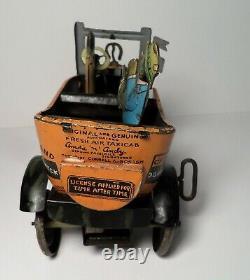 Vintage Marx Amos N Andy Tin Litho Wind Up Fresh Air Taxi Rumble Car