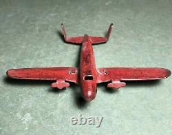 Vintage Marx Army Airplane On Flatbed Freight Train Car O Gauge Scale