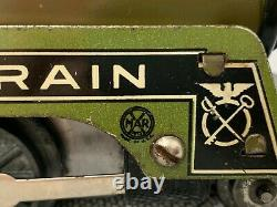 Vintage Marx Army Supply 500 Locomotive Engine Tin Toy Train O Scale 1 of 2