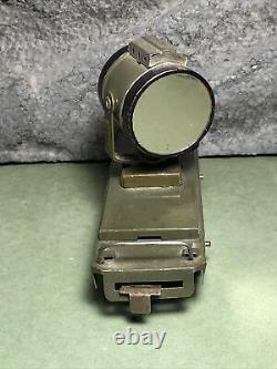 Vintage Marx Army Train Flat Car With Searchlight Spotlight 4 Wheel Version
