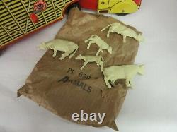 Vintage Marx Cattle Van Trailer Tin Toy Still In Original Box 960