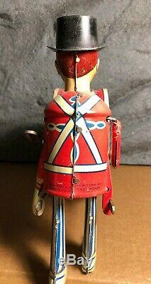 Vintage Marx Charlie McCarthy Strike Up The Band Wind-Up Tin Toy Works