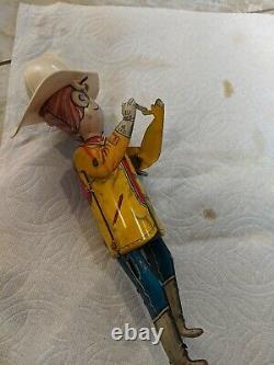 Vintage Marx Climbing Fireman Tin Litho Windup Toy