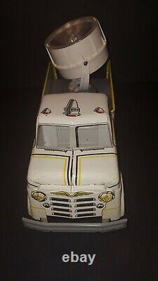 Vintage Marx Emergency Searchlight truck Pressed Steel #265 1950's ++ Condition