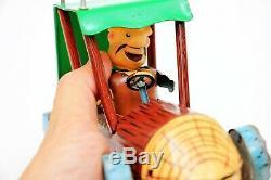 Vintage Marx Flintstones Barney Rubble's Wreck Tin Friction Car with BOX