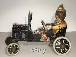 Vintage Marx Funny Flivver Car Tin Litho Wind Up Toy 1930's