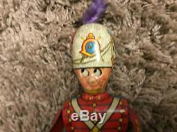 Vintage Marx George The Drummer Boy Wind Up Tin Toy Works Nice With Damaged Box