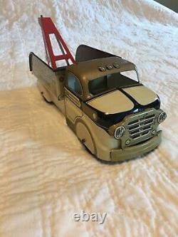 Vintage Marx Glendale Wrecker Tin Toy Truck