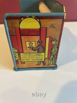 Vintage Marx Home Town Tin Litho Movie Theatre Bobby and Betty's North Pole Trip