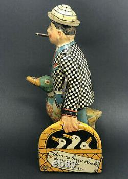 Vintage Marx Joe Penner Wanna Buy a Duck Wind-Up, Tin Litho