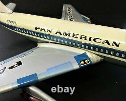 Vintage Marx Line Mar Co. Japanese Tin Litho Pan Am Toy Clipper Jet Airplane