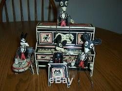 Vintage Marx Merry Makers Mice Mouse Band Tin Wind Up Working