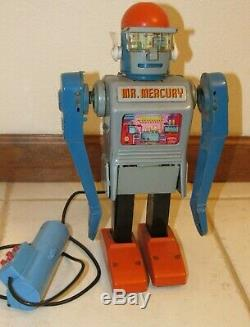 Vintage Marx Mr. Mercury Tin Robot Japan 1962 for Repair or Parts