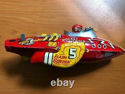 Vintage Marx Rocket Fighter Flash Gordon 5 Wind-Up Tin Toy Excellent condition
