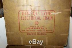 Vintage Marx Santa Fe Tin Litho A/a Combo #21 Freight Set (f/r/l) #45225