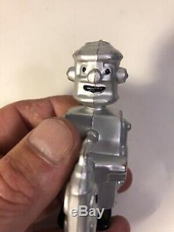 Vintage Marx Silver Tin Man Robot Ramp Walker