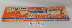 Vintage Marx Space Cadet Sparkling Laser Ray Gun Toy Lot Tom Corbett Rex Mars