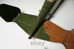 Vintage Marx Sparkling Aeroplane Windup Tin Camouflage Us Army Airplane