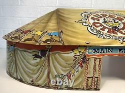Vintage Marx Super Circus Tent Toy Tin Play Set