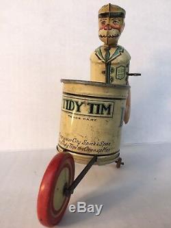 Vintage Marx Tidy Tim Wind-up Walker Tin Litho