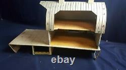 Vintage Marx Tin Elevated Barn Metal Toy 60s 100 Pcs Pig Sheep Goat Tool Feed VG