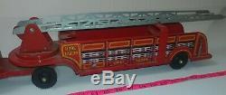 Vintage Marx Tin Fire Truck