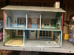 Vintage Marx Tin Litho 2 story Doll House