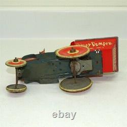 Vintage Marx Tin Litho & Celluloid Popeye Dippy Dumper, Wind Up Toy Vehicle