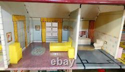Vintage Marx Tin Litho Two Story Dollhouse with Disney Nursery & 20 PC Furniture