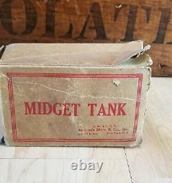 Vintage Marx Tin Litho US Army Tank Wind-Up Toy Boxed, Working