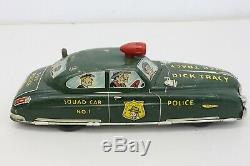 Vintage Marx Tin Litho Wind Up Dick Tracy Police Dept Squad Car Toy M44