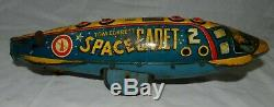 Vintage Marx Tin Litho Wind-Up Tom Corbett Space Cadet Polaris Rocket for parts