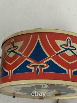 Vintage Marx Tin Litho Wind-up Charlie Mccarthy The Drummer Boy W Box