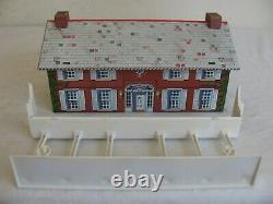Vintage Marx Tin Lithograph Blue & Gray Civil War Playset Mansion with Columns EX
